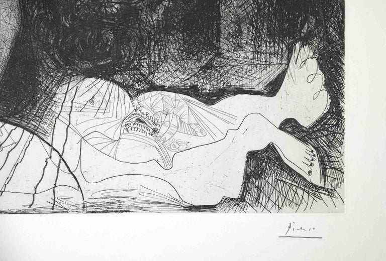 Autoportrait, avec deux femmes, from The Fall of Icarus by Pablo Picasso - 1972 1