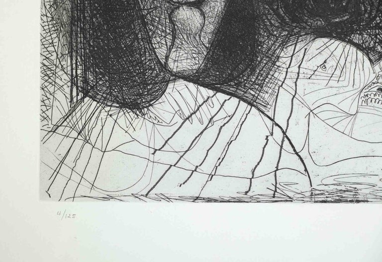 Autoportrait, avec deux femmes, from The Fall of Icarus by Pablo Picasso - 1972 2