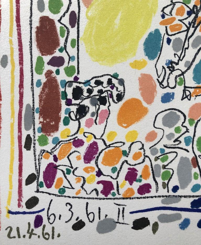 The Picador - Original Lithograph in Colors - Mourlot - Bloch 1017 - Gray Figurative Print by Pablo Picasso