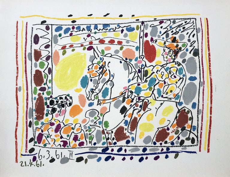 Pablo Picasso Figurative Print - The Picador - Original Lithograph in Colors - Mourlot - Bloch 1017