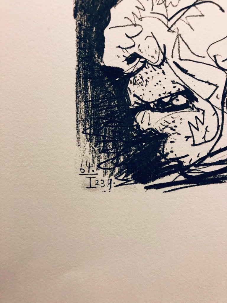 (Title Unknown-64.I 23.9)-Print - Beige Portrait Print by Pablo Picasso