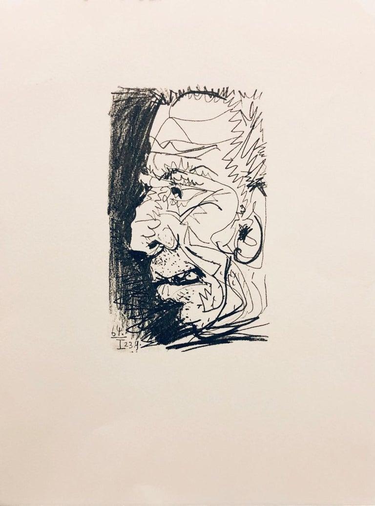 Pablo Picasso Portrait Print - (Title Unknown-64.I 23.9)-Print