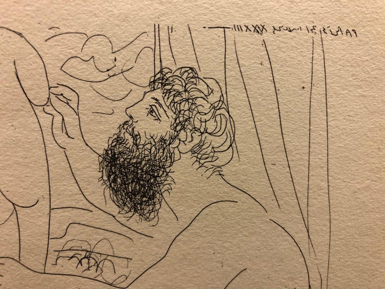 (Title Unknown)-Print, from the Vollard Suite - Beige Nude Print by Pablo Picasso