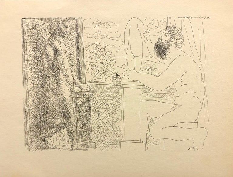 Pablo Picasso Nude Print - (Title Unknown)-Print, from the Vollard Suite