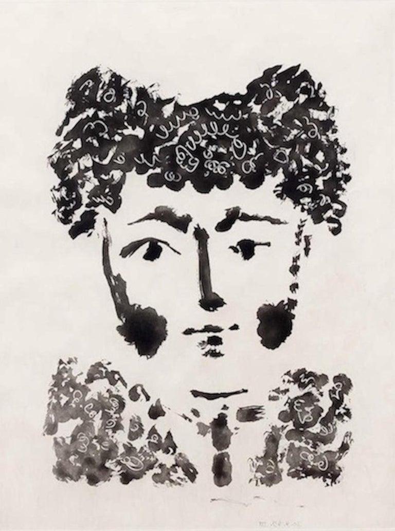 """Pablo Picasso Portrait Print - Torero, from """"Le Carmen des Carmen"""""""