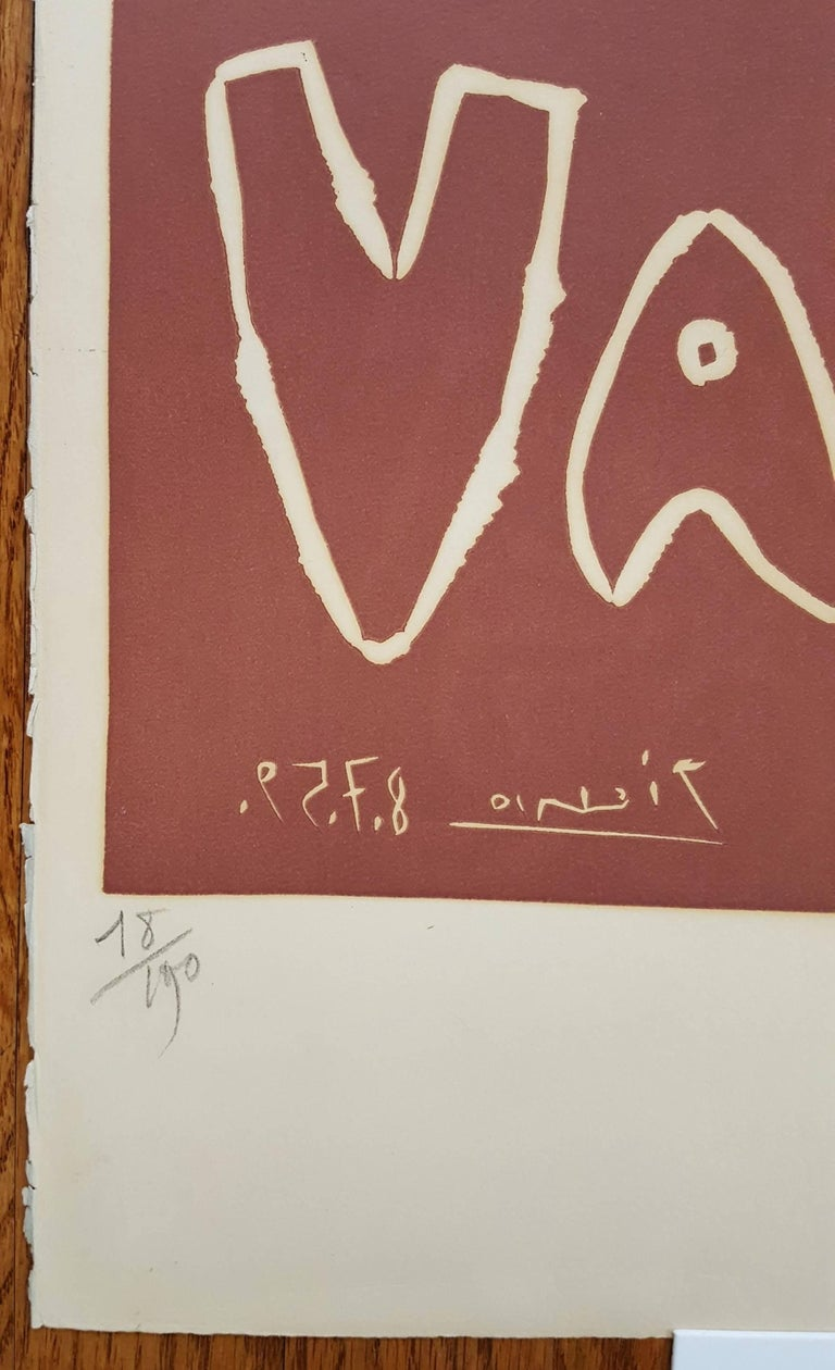 Toros en Vallauris - Cubist Print by Pablo Picasso