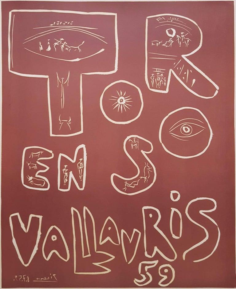 Pablo Picasso Animal Print - Toros en Vallauris