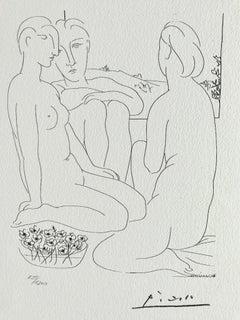 Trois femmes nues près d'une fenêtre (Suite Vollard Planche LXVII)