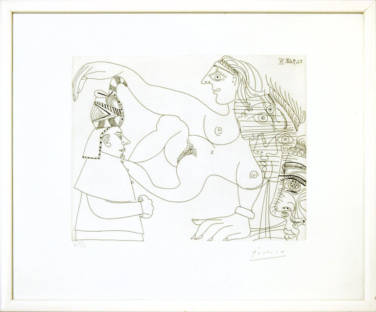Untitled, 21.9.68.IV. - Original b/w Etching by Pablo Picasso - 1968 1