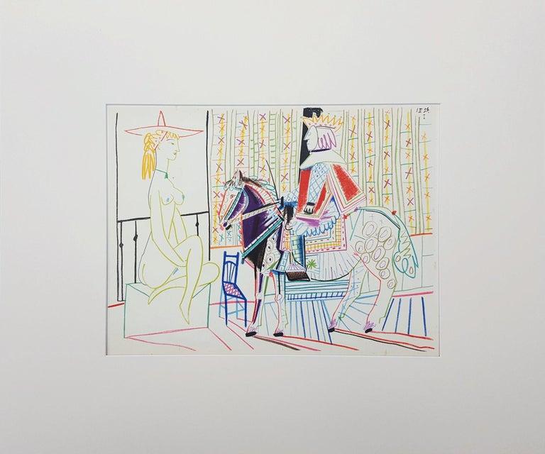 Untitled (Revue Verve) - Cubist Print by Pablo Picasso