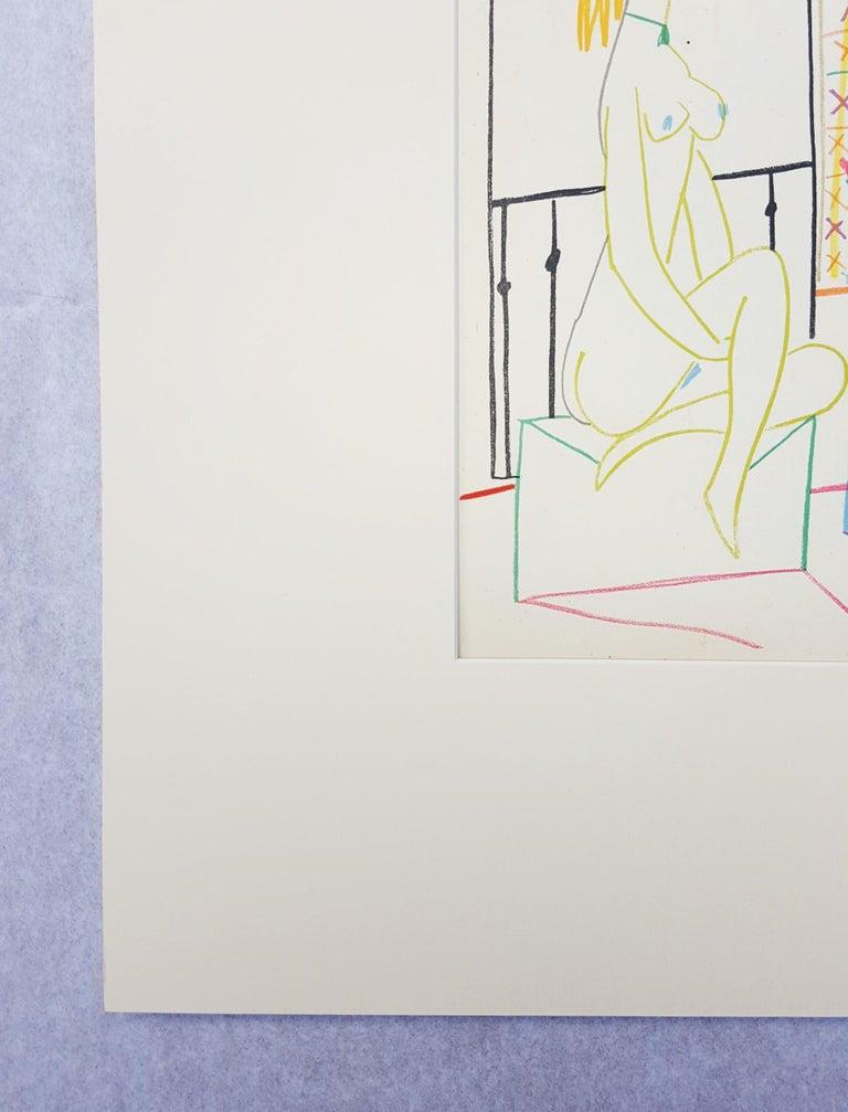 Untitled (Revue Verve) - Gray Figurative Print by Pablo Picasso