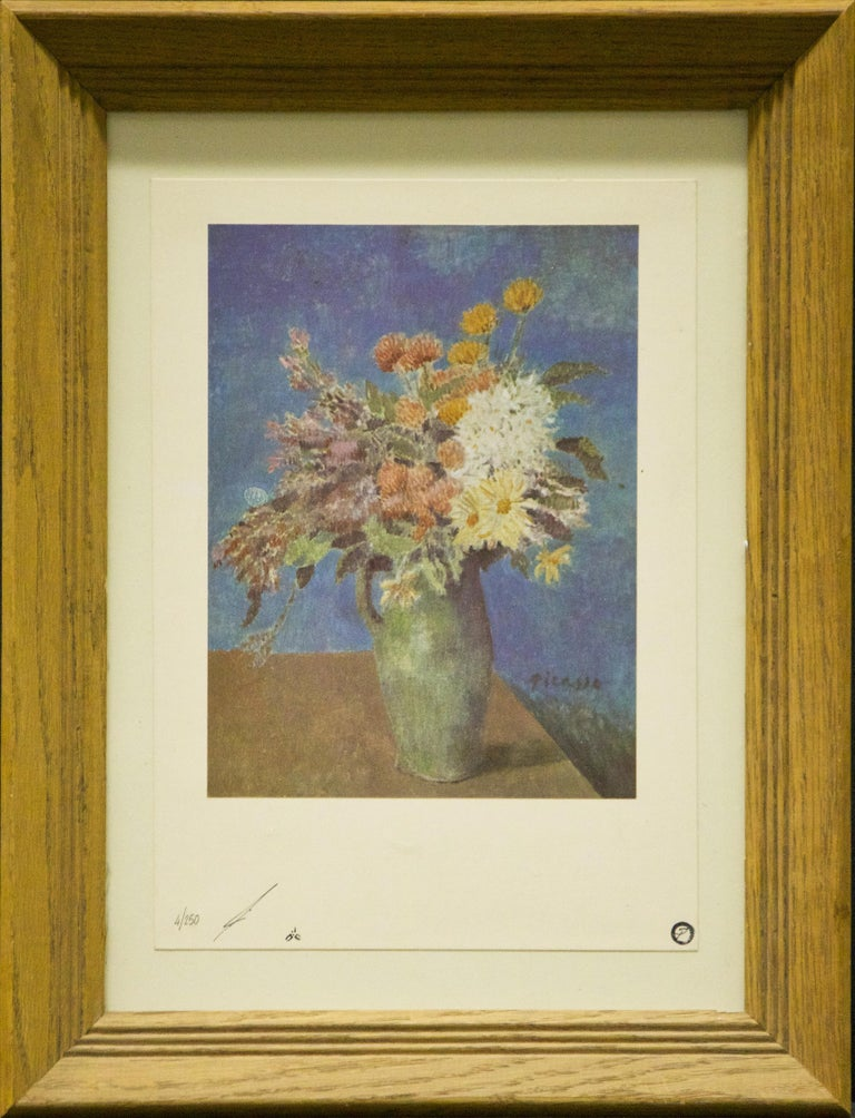 Pablo Picasso Still-Life Print - Vase of Flowers-Limited Edition Lithograph, comes with COA