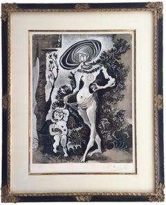 Venus et l'Amour Voleur de Miel - Pablo Picasso, abstract, lithograph