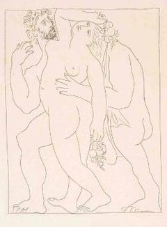 """Vertumne poursuit Pomone de son Amour - From """"Les Métamorphoses d'Ovide"""""""