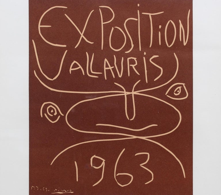 Vintage Vallauris Ceramics Poster by Pablo Picasso and Arnéra Printers (1963) For Sale 3