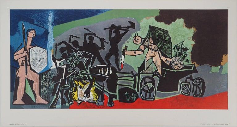 Pablo Picasso Figurative Print - War - Offset-lithograph, 1969