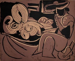 Woman Reclining and Man with a Guitar, 1959