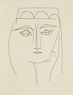 Woman with Headdress and Piercing Eyes (Plate XXVIII)