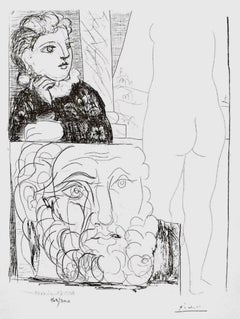 Young Girl With Drawing of Male Head (The Vollard Suite)