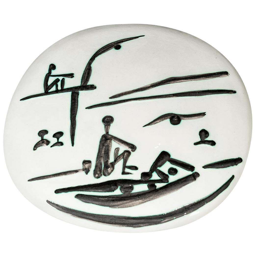 Pablo Picasso Madoura, Scène de plage, 1956, Edition Picasso and Madoura