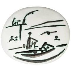 Pablo Picasso, Scène de plage, 1956, Edition Picasso and Madoura