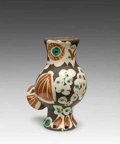 Chouette, Owl, Picasso, 1960's, earthenware, pitcher, edition, design, abstract