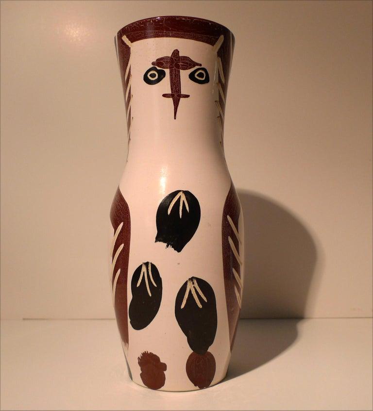 "Pablo Picasso Figurative Sculpture - ""Chouetton (A.R. 135)"", Ceramic Dish Stamped Madoura Plein Feu, Edition Picasso"