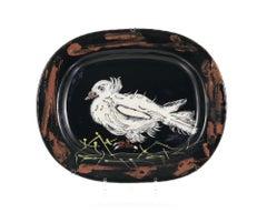 Colombe sur lit de paille, Pablo Picasso, Plate, Multiples, Earthenware, Ceramic