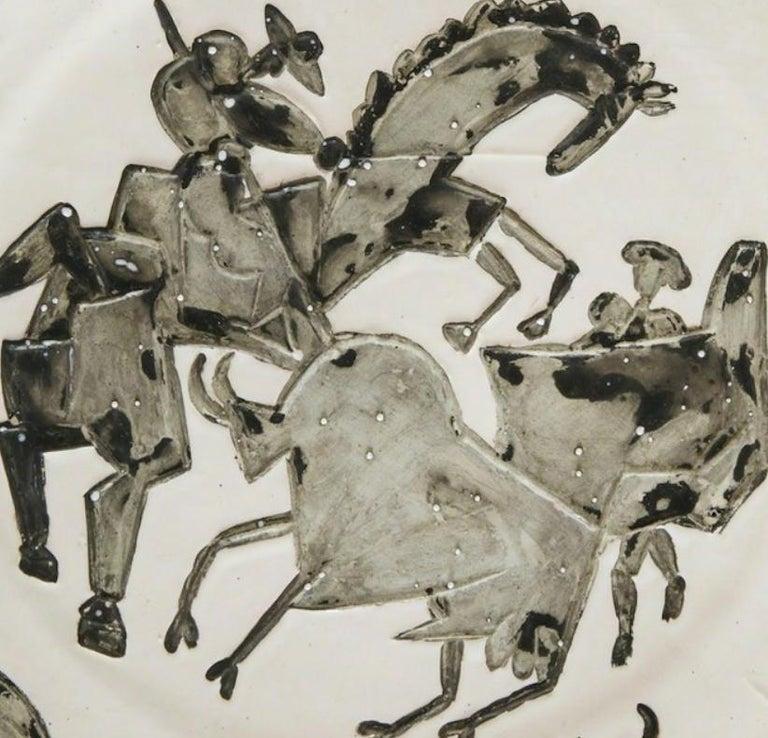 Corrida, Pablo Picasso, 1950's, Ceramic, Earthenware, Decorative Art, Design For Sale 2