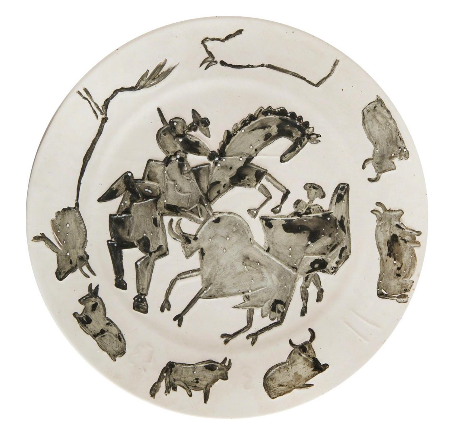 Corrida, Pablo Picasso, 1950's, Ceramic, Earthenware, Decorative Art, Design