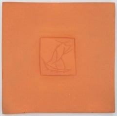 Dancers - Original ceramic tile, Madoura (Alain Ramié #632)
