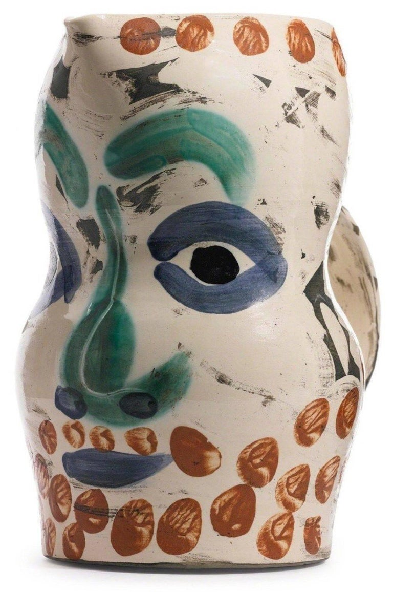 Picasso Madoura Ceramic Ramie 610 Face With Points