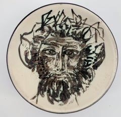 Faun's Head - Ceramic - 100 copies - Original ceramic Madoura (Ramié #256)