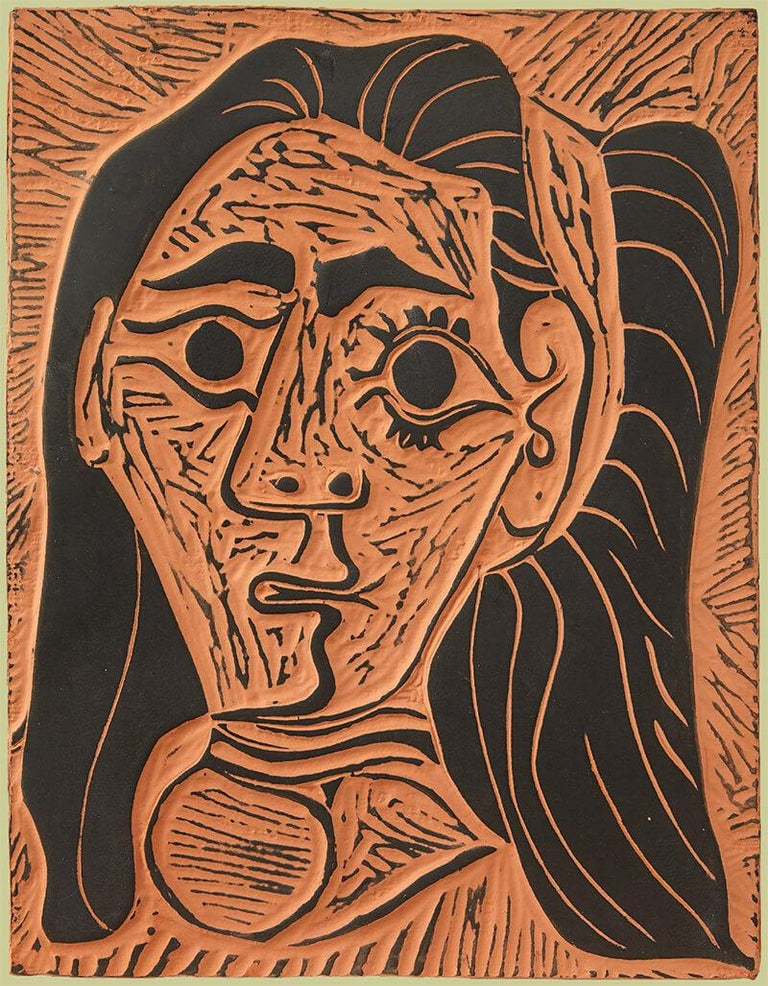 Pablo Picasso Figurative Sculpture - Femme au Cheveux Flous (Fluffy-haired Woman)
