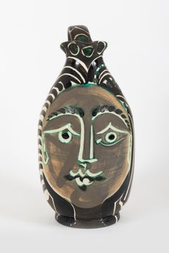 Femme du barbu, Pablo Picasso, Ceramic, Terracotta, 1950's, Postwar, Sculpture