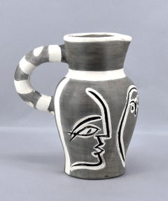 Grey Engraved Pitcher