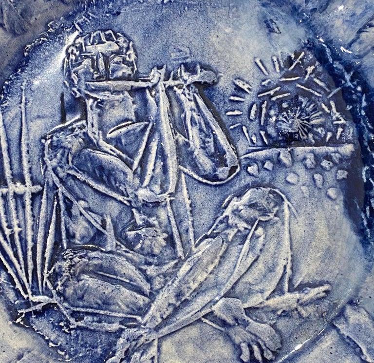 Joueur de flûte, Picasso, Limited Edition, Sculpture, Design, 1950's, Ceramic  Joueur de flûte Ed. 40 pcs 1951 Earthenware clay covered with enamel D. 24.5 cm Stamped on the back : Madoura Plein Feu, Empreinte originale de Picasso Picasso :