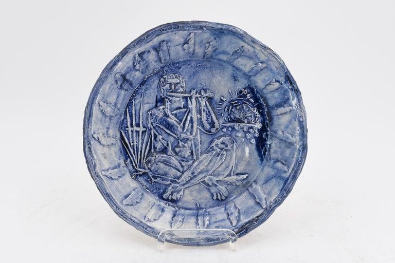 Pablo Picasso Figurative Sculpture - Joueur de flûte, Picasso, Limited Edition, Sculpture, Design, 1950's, Ceramic