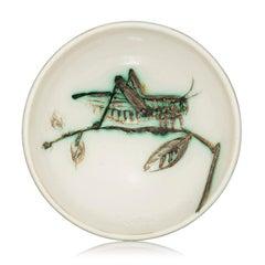 Madoura Ceramic Bowl- Sauterelle sur une Branche, Ramié 258