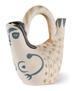 Madoura Ceramic Pitcher, Figure de Proue, Ramié 136