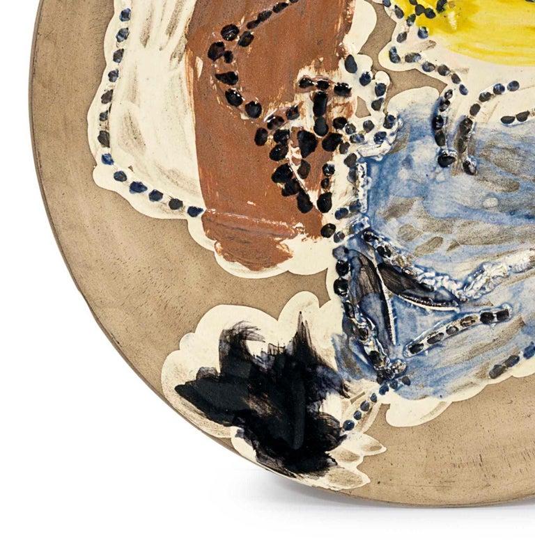 Madoura Ceramic Plate- Pase de Cape, Ramié 417 - Sculpture by Pablo Picasso