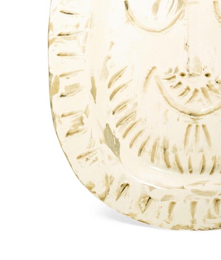 Madoura Ceramic Plate- Visage d'Homme, Ramié 287 - Sculpture by Pablo Picasso