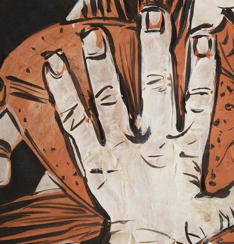 Mains au Poisson, Pablo Picasso, 1950's, Ceramic, Multiples, Design, Interior - Beige Figurative Sculpture by Pablo Picasso