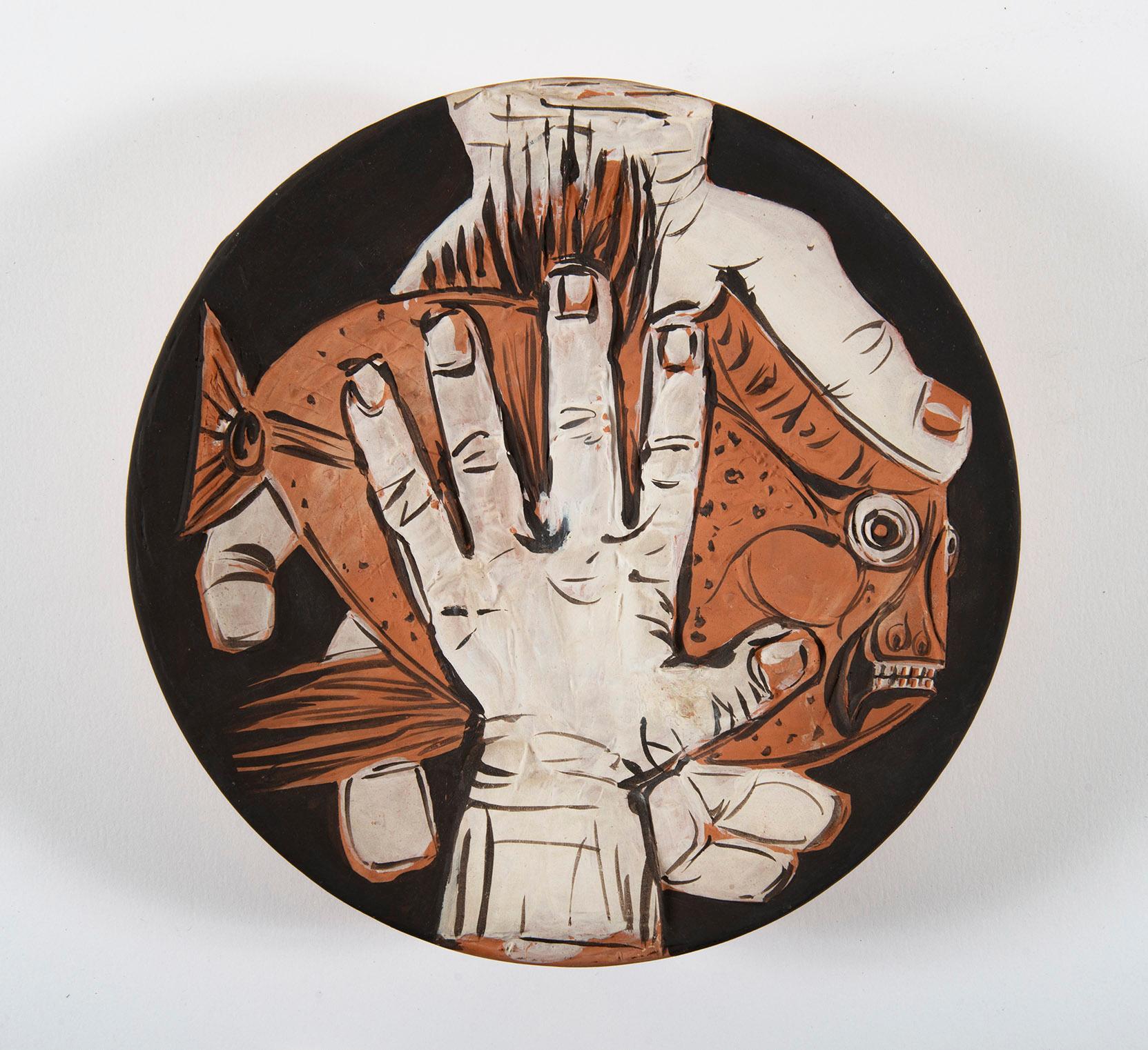 Mains au Poisson, Pablo Picasso, 1950's, Ceramic, Multiples, Design, Interior