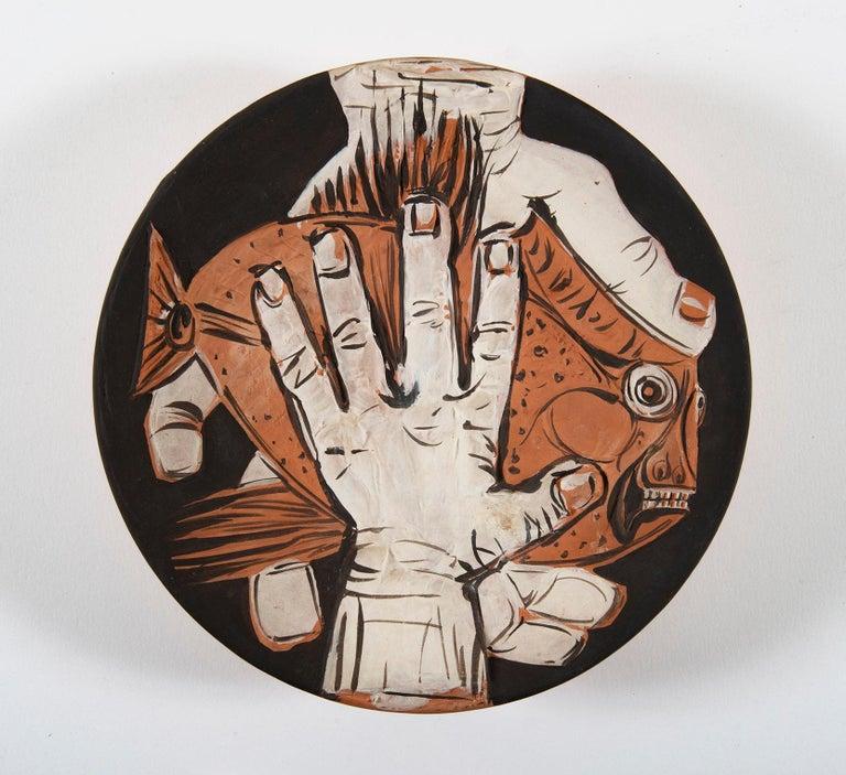 Mains au Poisson, Pablo Picasso, 1950's, Ceramic, Multiples, Design, Interior - Sculpture by Pablo Picasso