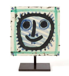 Mask, Pablo Picasso, 1950's, Ceramic, Sculpture, Post-War, Ramié, Madoura