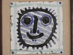 Mask (Ramie 311), Ceramic Tile by Picasso 1956
