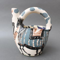 Mid-Century Earthenware Pitcher 'Rider and Horse' (20/300)
