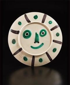 Pablo Picasso Ceramic Dual Side Design AR 356 366 Visage aux palmes Face & Palms
