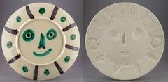 Pablo Picasso Ceramic Dual Side Design AR356 366 Visage aux palmes Face w/ Palms